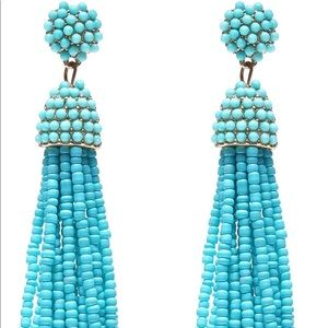 Jewelry - 💎 Spring Turquoise Beaded Fringe Dangle Earrings